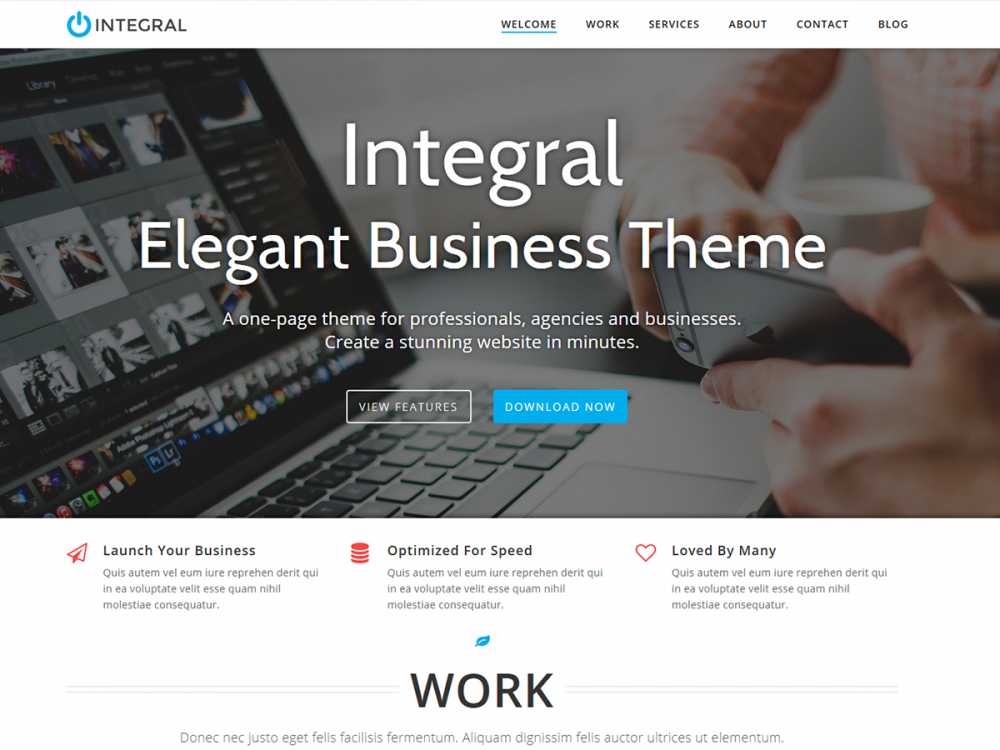 Integral Released on Wordpress.org Official Themes Directory | Themely