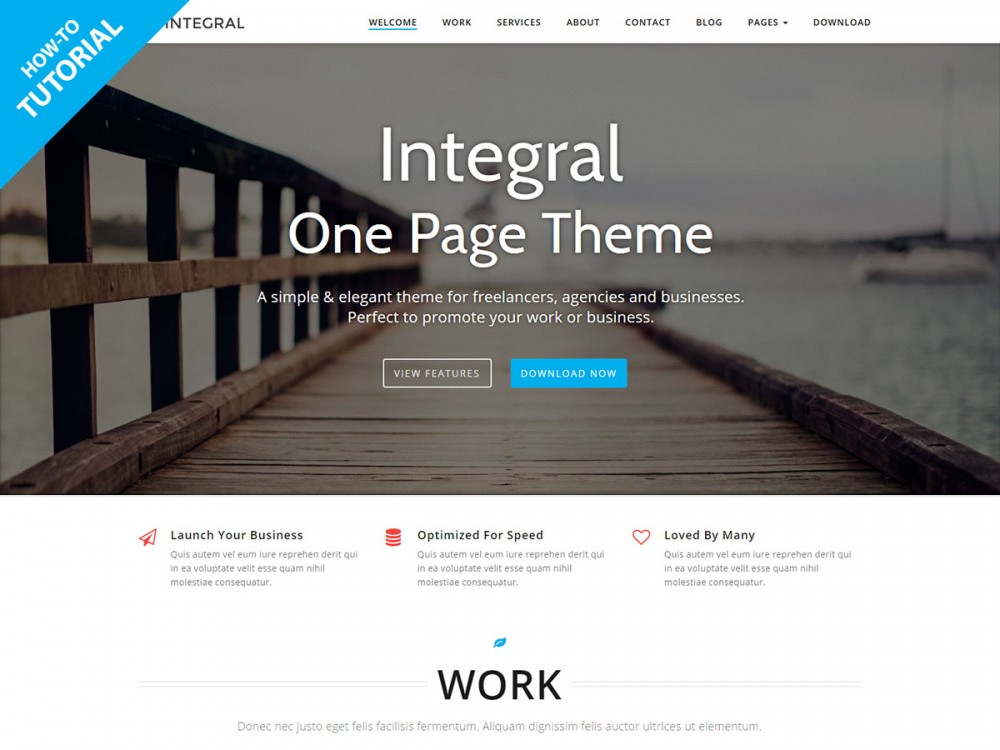 Tutorial: How to build a One Page WordPress Site with Integral | Themely