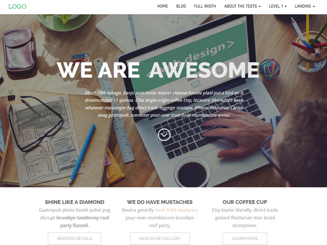 Business Press One Page Theme