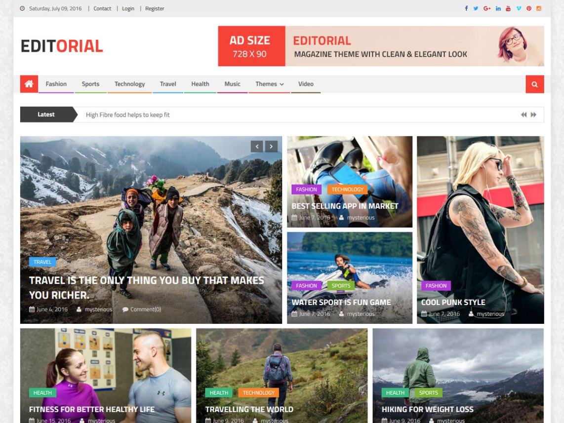 10 Free Magazine WordPress Themes 2017 | Themely
