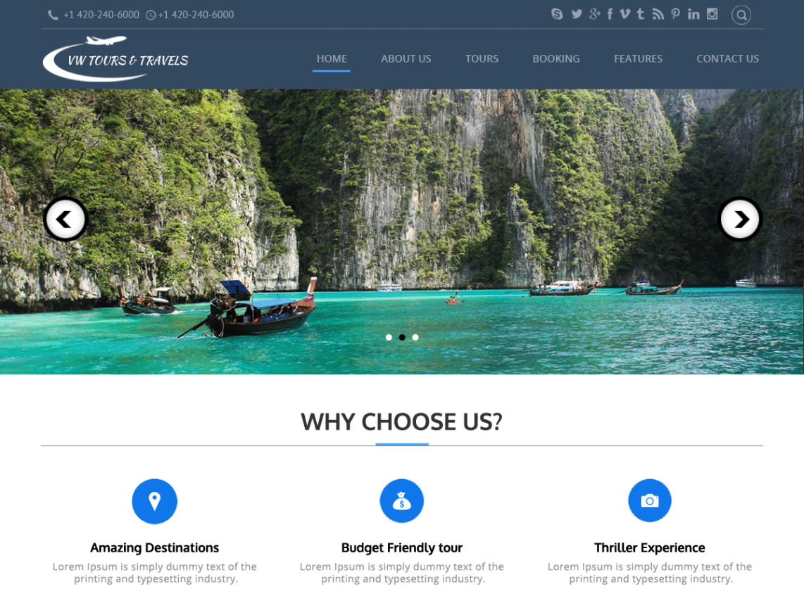 Travel Agency Website >> 10 Free Travel Wordpress Themes 2017 Themey