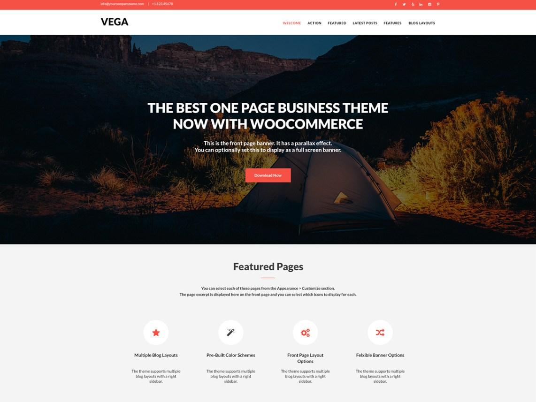 Vega One Page Theme