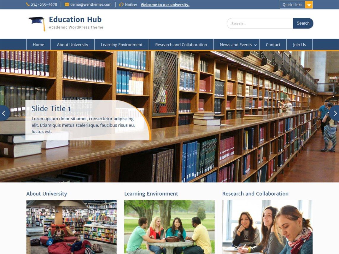 Education Hub Theme