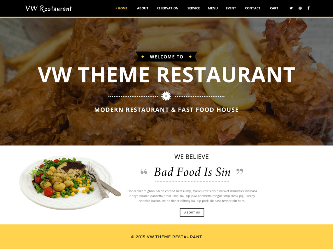 VW Restaurant Lite Theme