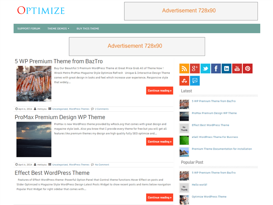 Optimize theme