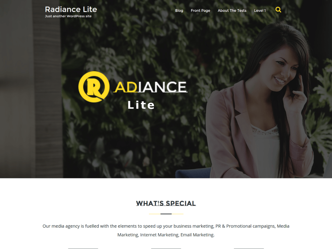 Radiance Lite Theme