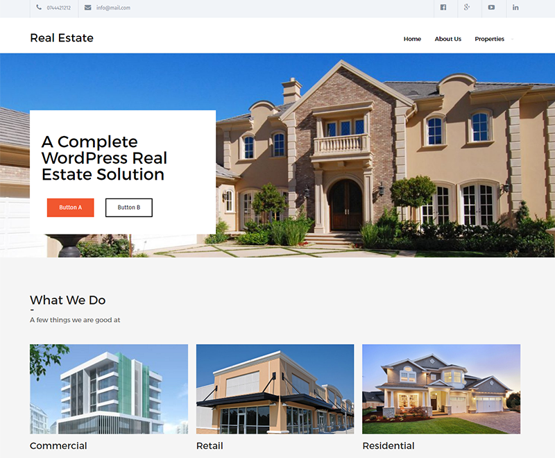 Real Estate Lite Theme