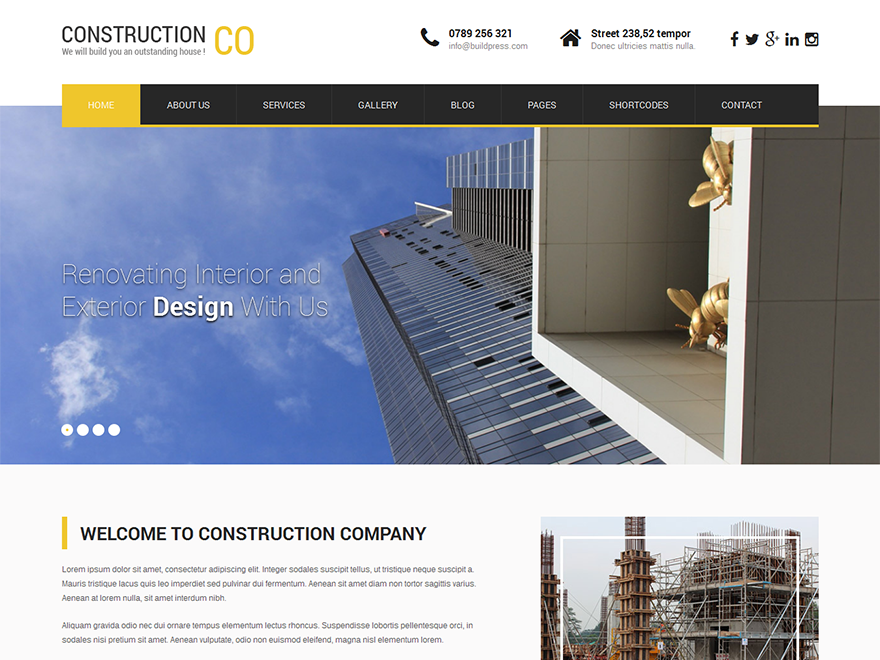 SKT Construction Lite Theme