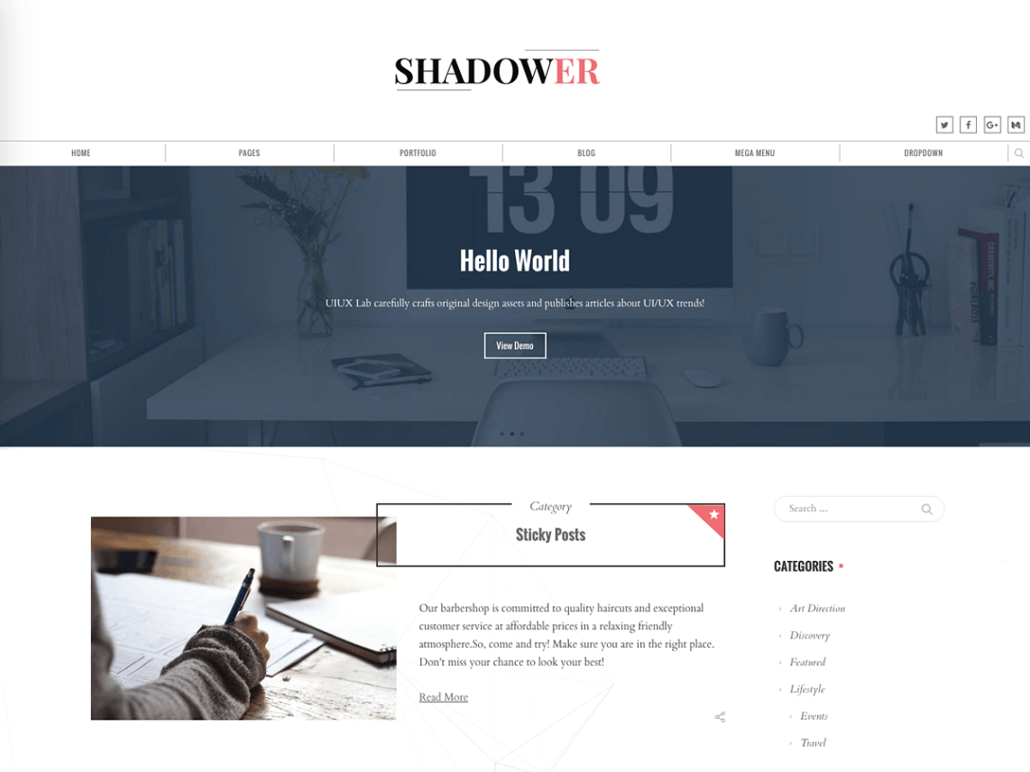 Shadower Theme