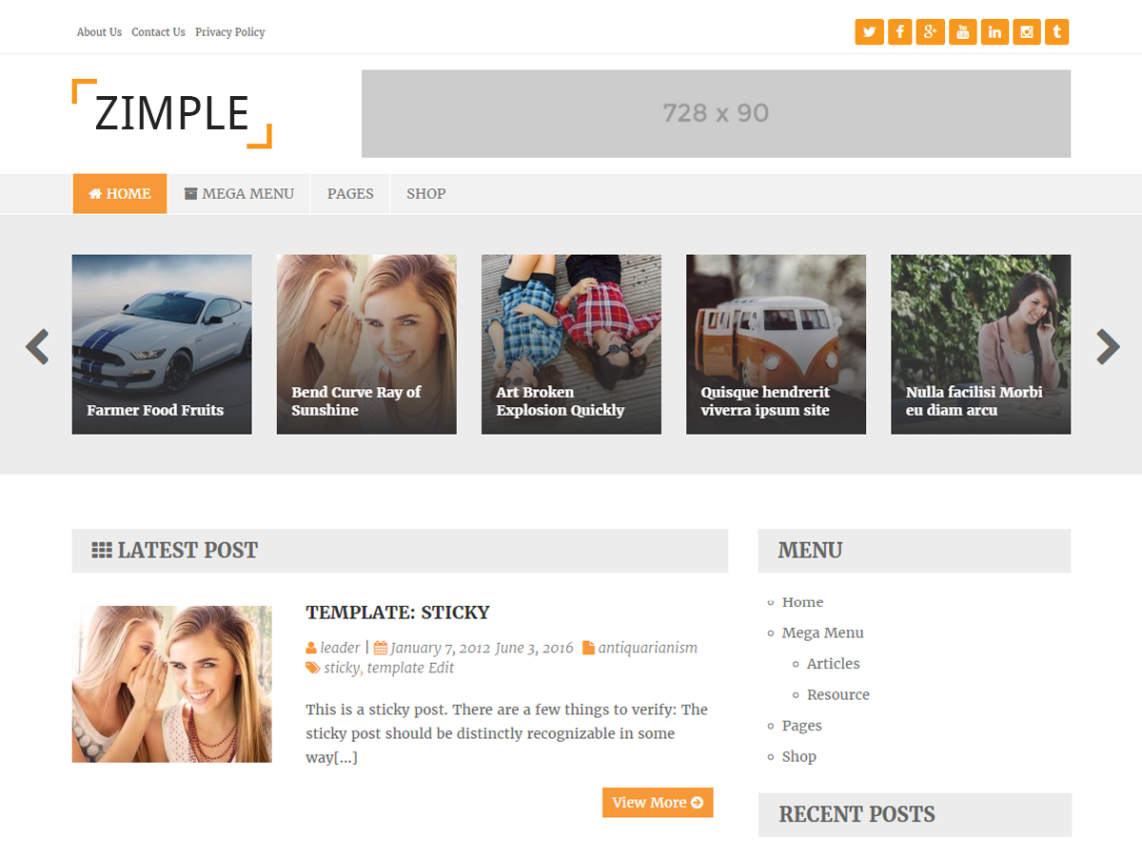 Zimple Lite Theme