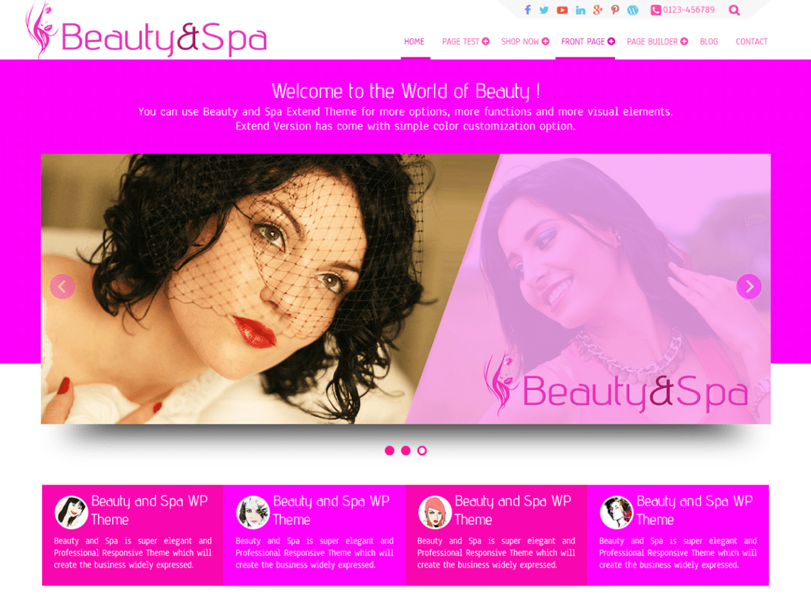Beauty and Spa Theme