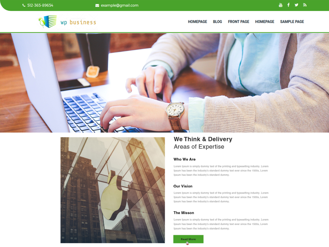 The WP Business Theme
