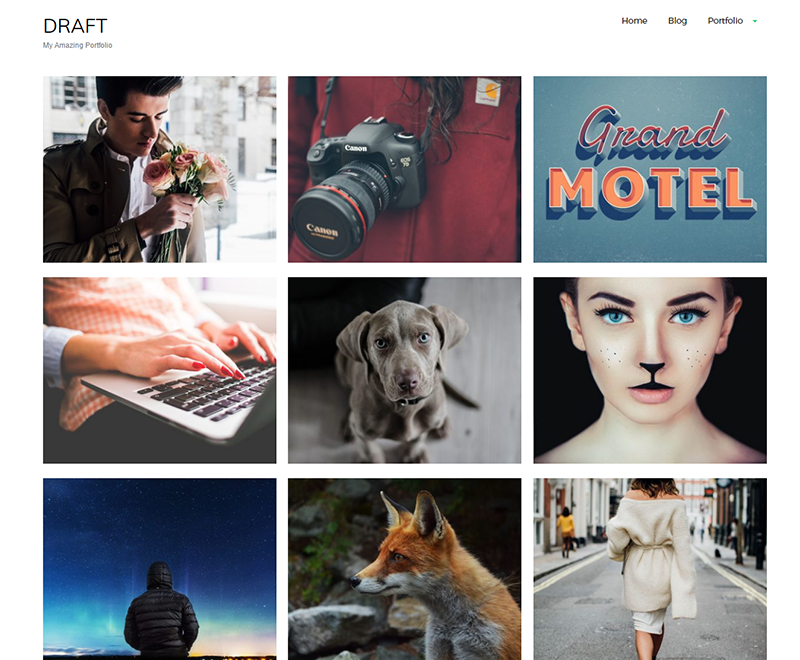 Draft Portfolio Theme
