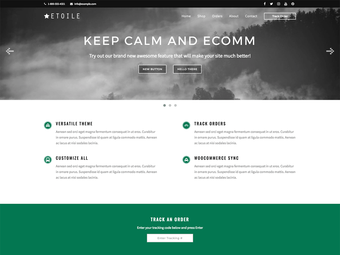 Keep Calm and E-Comm Template