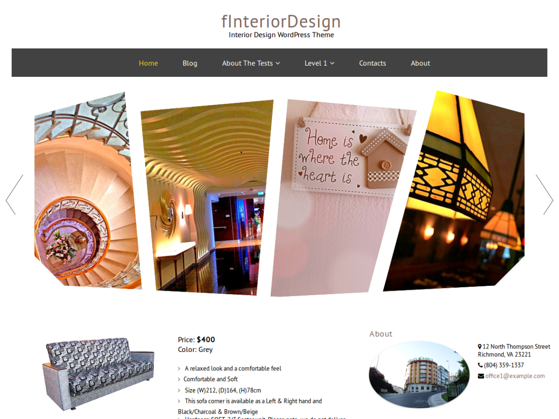 FInteriorDesign Template Is A Fully Responsive Interior Design