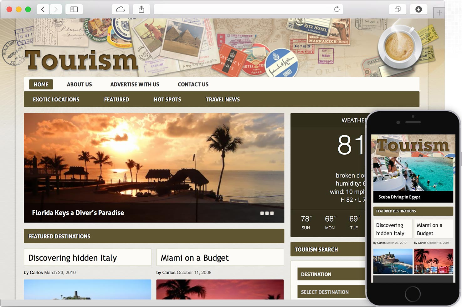 Tourism Template