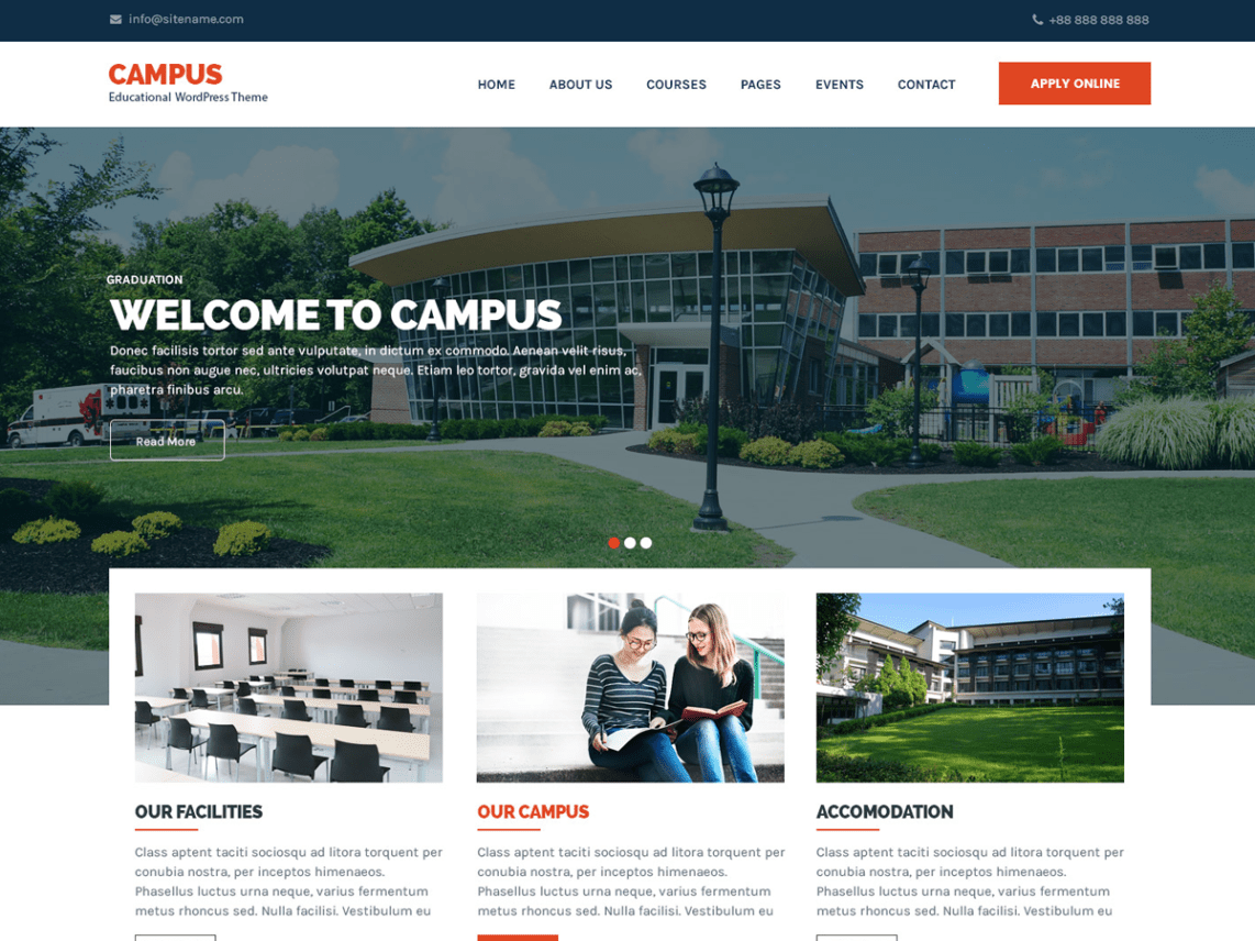 Campus Education Template