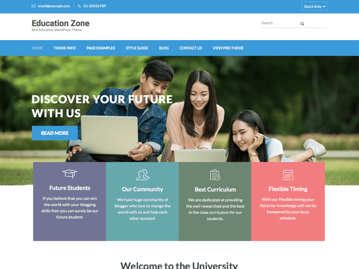 Education Zone Template