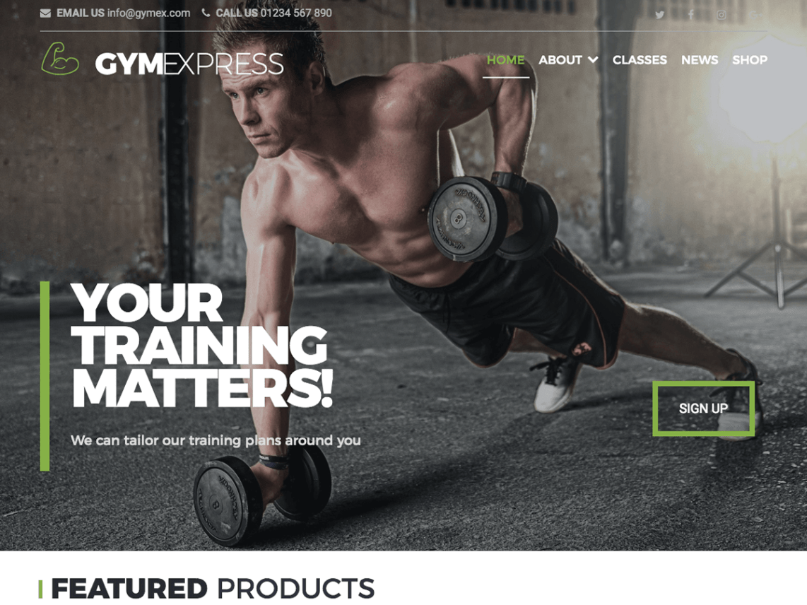 Gym Express Template