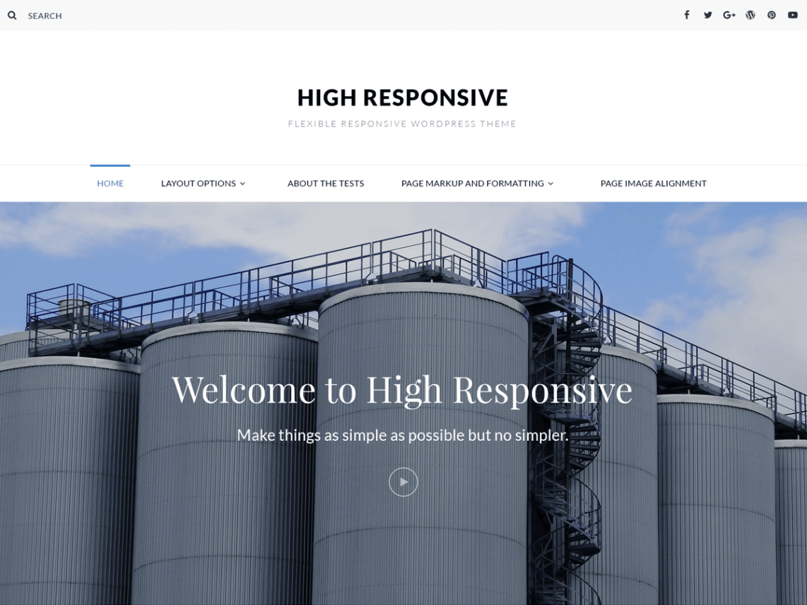 High Responsive Template