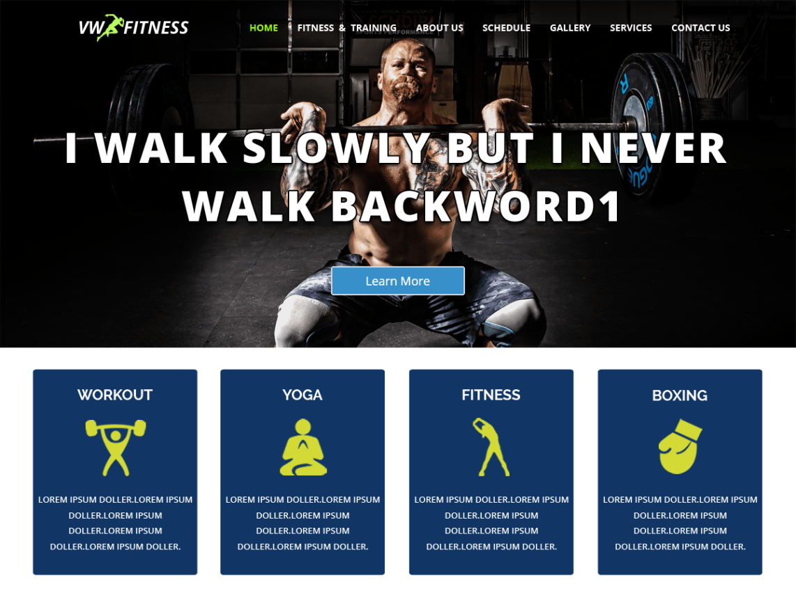 WV Fitness Template