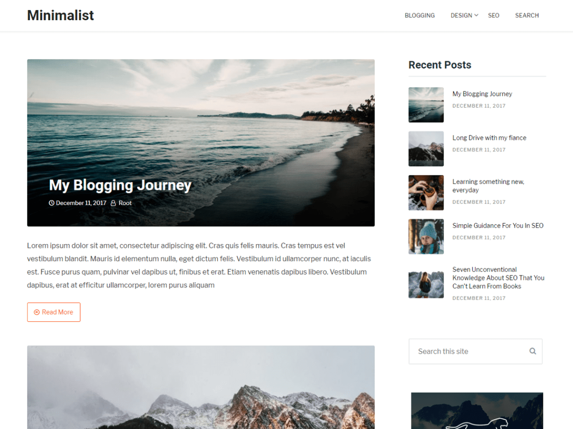 Clean Blogging Theme