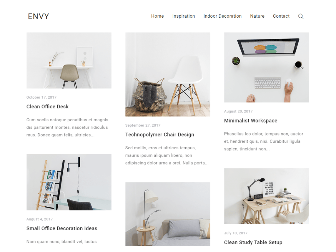 Envy Blog Theme