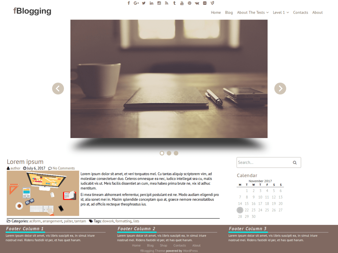 fblogging Theme