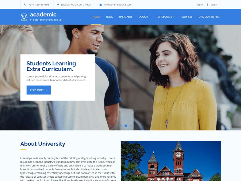 Academic Theme