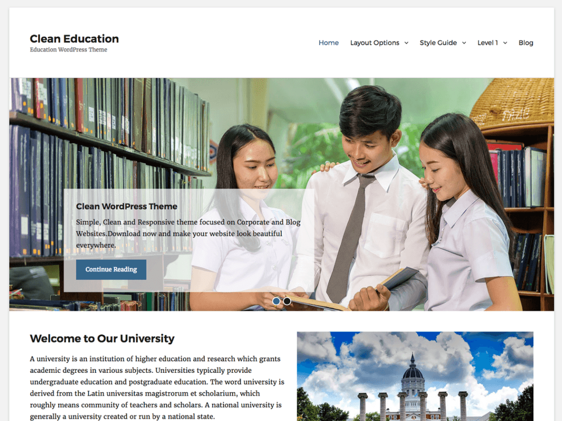 Clean Education Theme