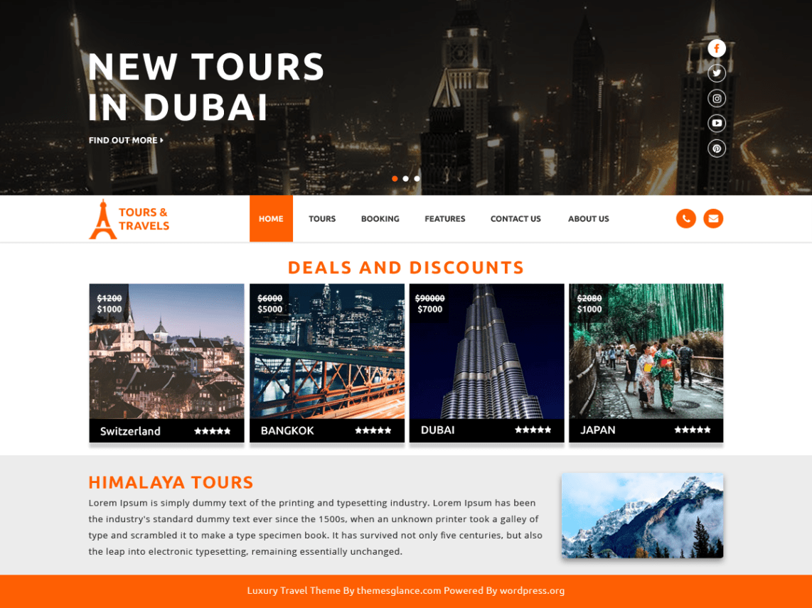 Luxury Travel Theme