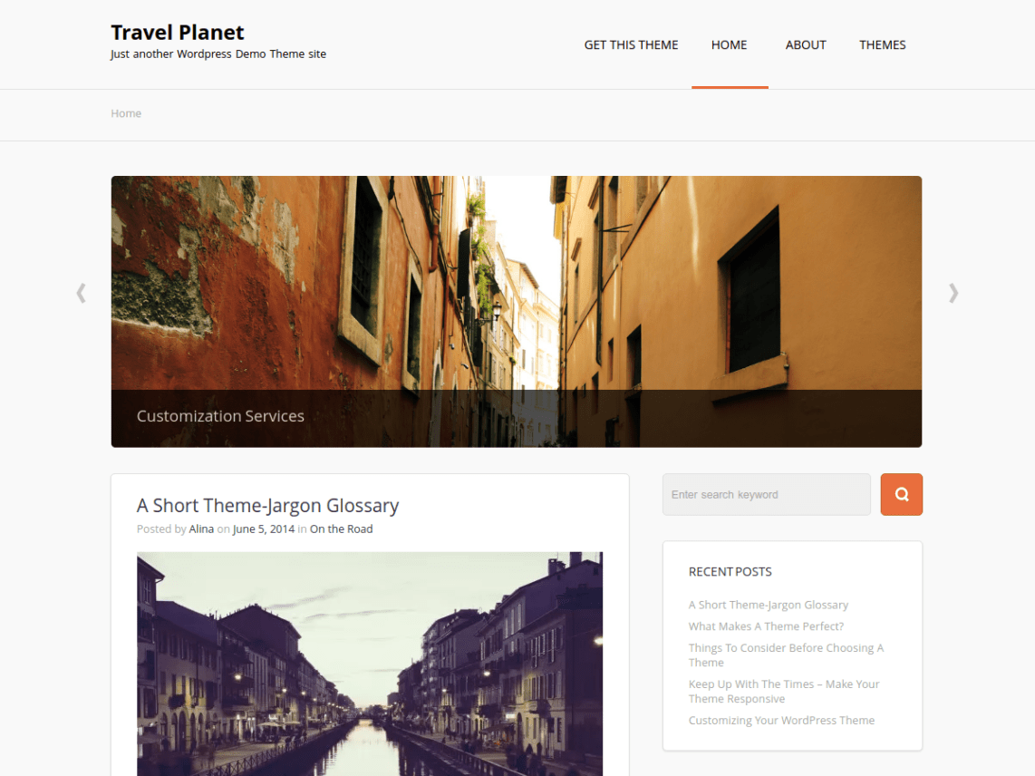 Travel Planet Theme