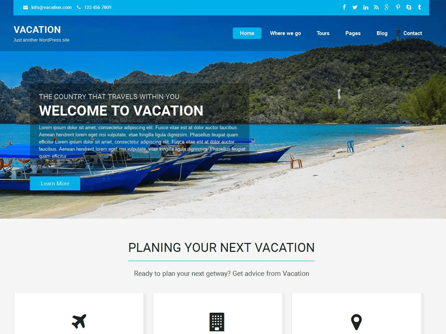 Vacation Lite Theme