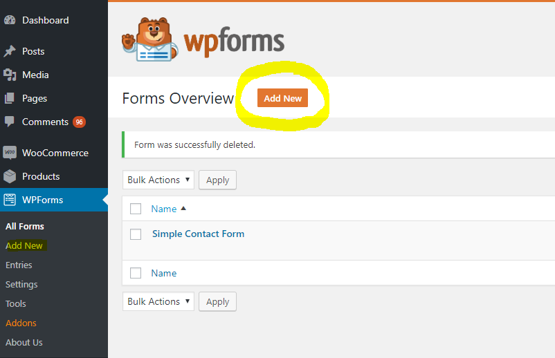 How to Install a Contact Form on Your Website with WPForms Drag
