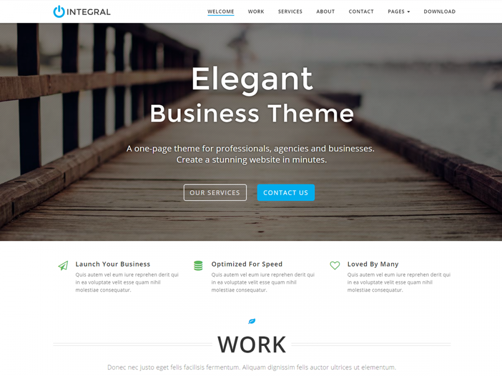 10 Free One-page Business WordPress Themes 2018