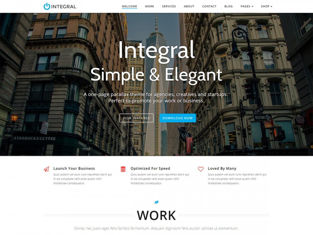 Integral WordPress Theme Screenshot